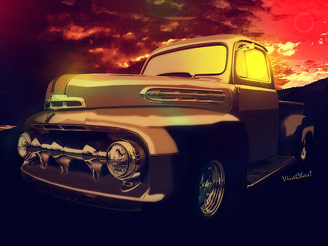 52 Ford Pickup Moody Morning by Chas Sinklier
