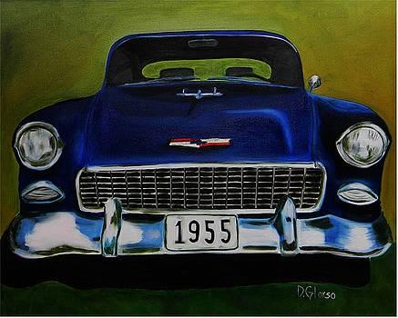 55 Blue Chevy by Dean Glorso