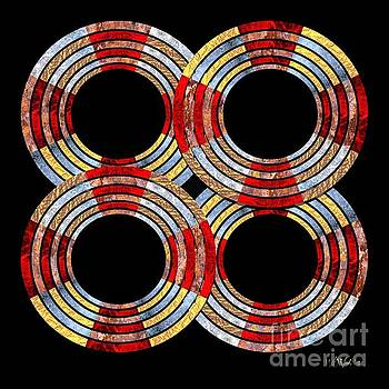 Walter Oliver Neal - 6 Concentric Rings x 4