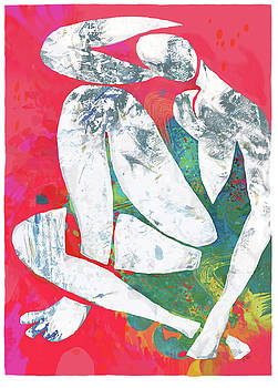 Nude pop stylised art poster by Kim Wang