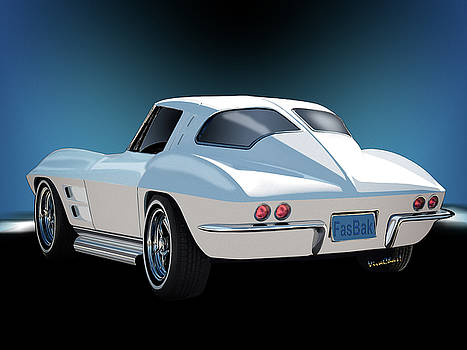 63 Vette Rear Illustration for Story by Chas Sinklier