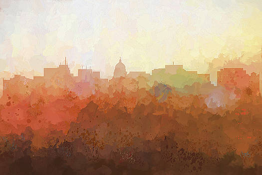 Madison Wisconsin Skyline by Marlene Watson