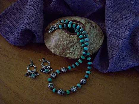 Turquoise and Silver  by Melissa Songer