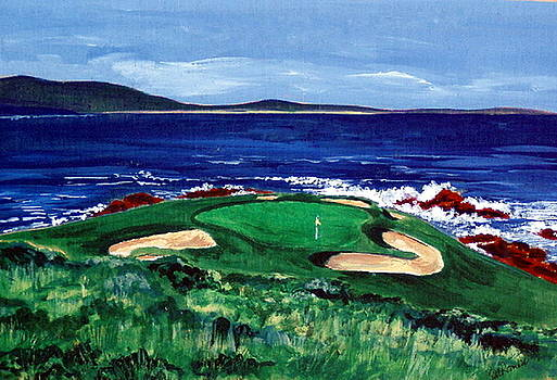 7th Hole Pebble Beach by Suzanne Krueger