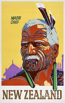 New Zealand Vintage Travel Poster Restored by Carsten Reisinger