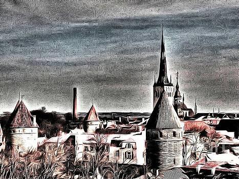Old Tallinn Estonia by Yury Bashkin