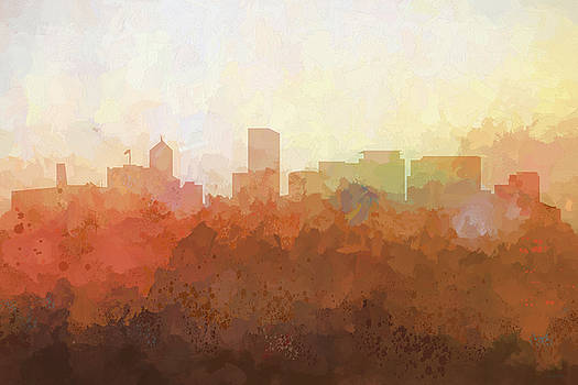 Portland Oregon Skyline by Marlene Watson