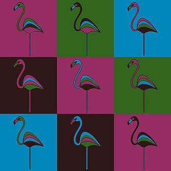 9 Flamingos by Asbjorn Lonvig