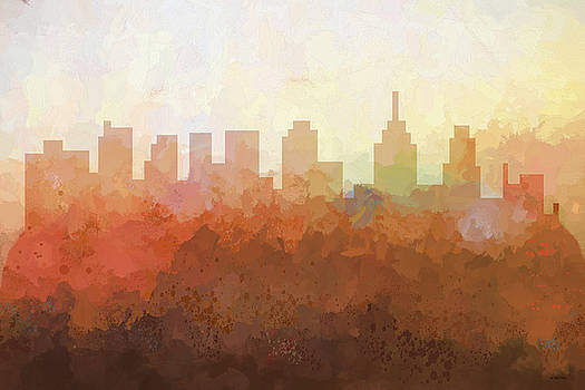 Philadelphia Pennsylvania Skyline by Marlene Watson