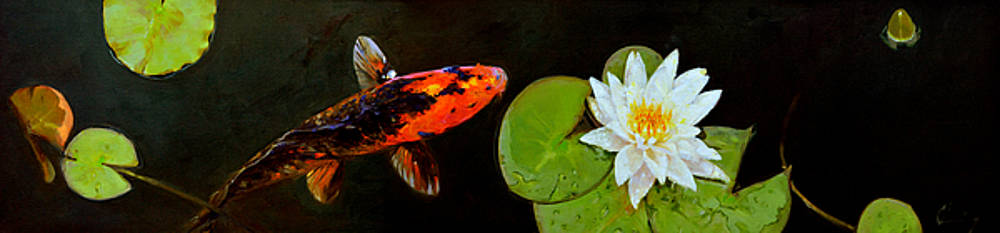 959 Koi and Lilies by Chuck Larivey
