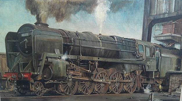 A 9F on shed by Mike Jeffries