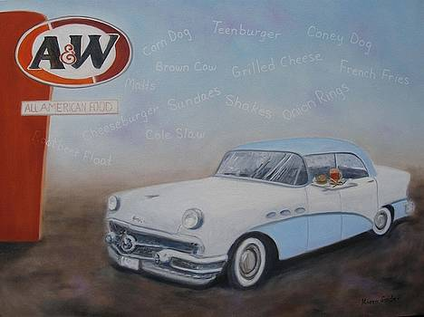 A and W Drive In by Karen Snider