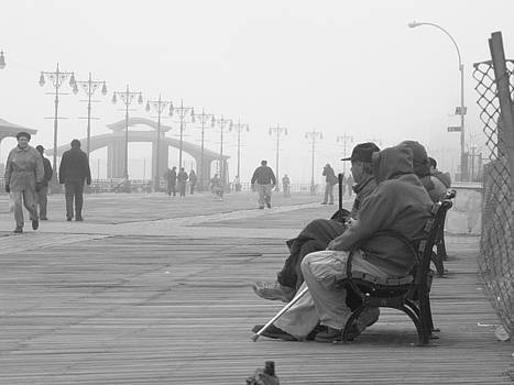 A Bench at Coney Island by Peter Aiello