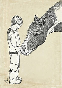 A boy and a Horse by Mary Vandenberg