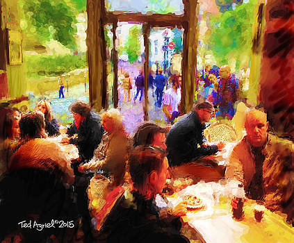 A Cafe In Monmarte by Ted Azriel