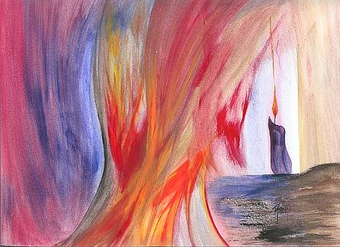 A Candle's Flame by Robert Meszaros