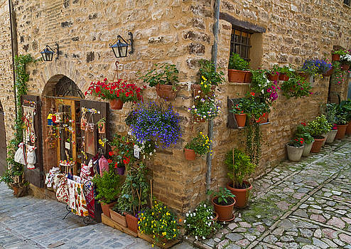 A corner store in Spello Italy by Roger Mullenhour