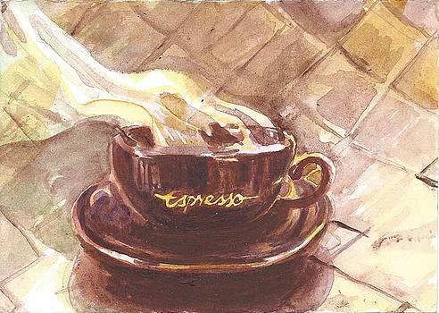 A Cup of Coffee by Karolina Wicha
