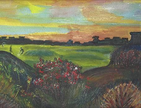 A Day for Golfing at Cypress Creek by Anne-elizabeth Whiteway