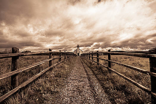 A Distant Church by Karl Anderson