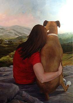 A Girl and Her Dog by Beth Maddox