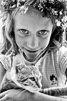 A Girl With A Cat by Justyna Lorenc