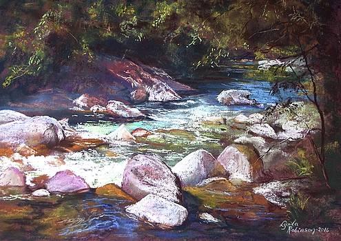 A Glimpse of Mosman Gorge by Lynda Robinson