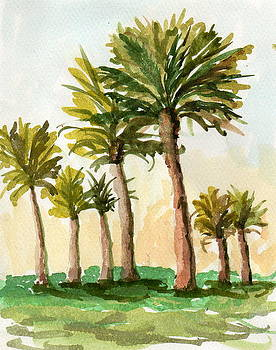 A group of Palm Trees by Sue Coley