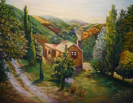 A house in the valley by Marieve Ortiz