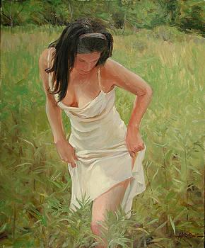 A Long Dress in Tall Grass by Scott Harding