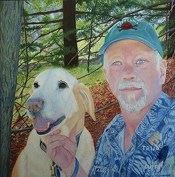 A Man and His Dog by Laurie Cartwright