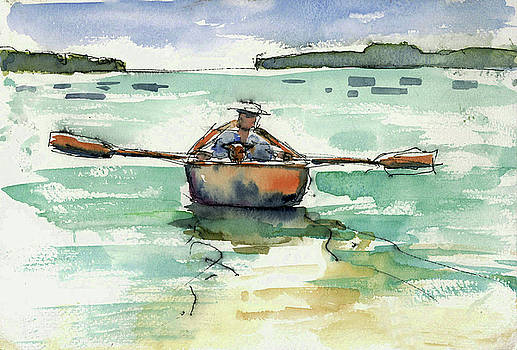 A Boat, A Man and His Dog by Mary Byrom
