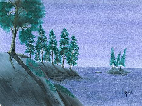 A Moment In Blue by Robert Meszaros