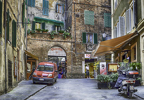 A Quaint Street in Siena by Maggie Magee Molino