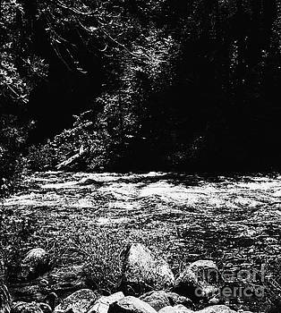 A River Runs Through It In  Monochrome  by Chris Berry