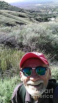 A Selifie from Atop 8,000 ft peak. by Michael Hoard