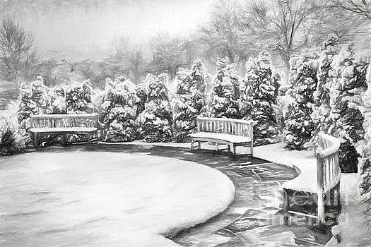 Dan Carmichael - A Snowy Day in the Park BW