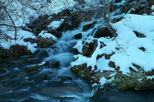 A snowy stream by Jeff Swan