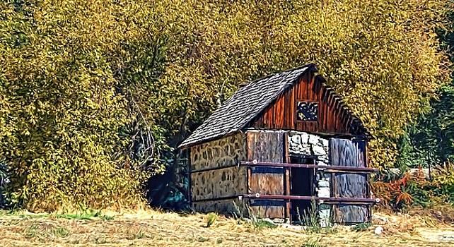 A Stone Barn in Apple Glen by Chrystyne Novack