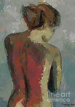 A Study of a Standing Nude by Dragica Micki Fortuna