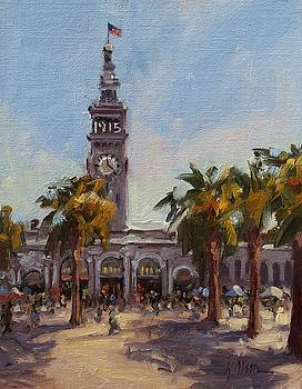 A Sunny Day at The Ferry Building by Kristen Olson