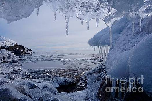 A Superior Ice Cave by Sandra Updyke