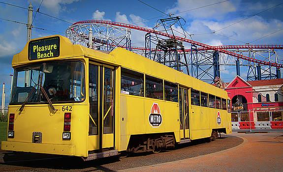 A tram in Blackpool by Paul Jarrett