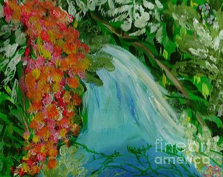 A Tropical Waterfall by Marie Bulger