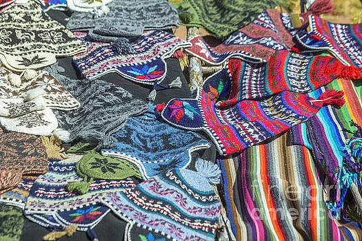 Patricia Hofmeester - A variety of souvenirs made of Peruvian wool.