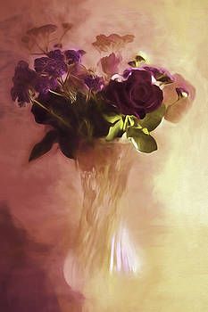 A Vase Of flowers Touched By The Morning Sun by Diane Schuster