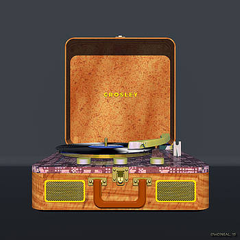 Walter Oliver Neal - The Crosley Traveler - A Vintage Portable Turntable