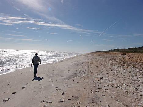 A Walk Along the Beach by Celeste Nagy