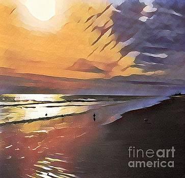 A Walk On The Beach by Diana Chason
