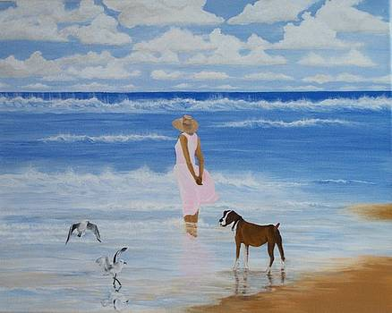 A Walk on the Beach by Linda Bennett
